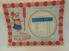 Pizza Hut Placemat - Menu. Vintage. Only 650 Locations.Pizza Hut Pete Logo