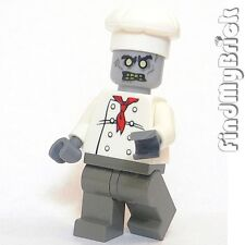 Z038A Lego Zombie Chef Cook Custom Minifigure Undead Halloween Ghost Death NEW