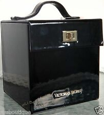1 VICTORIA'S SECRET SCANDALOUS BLACK VANITY JEWELRY MAKEUP TRAVEL TRAIN CASE NEW