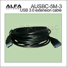 ALFA 5m (16 feet) USB 3.0 compliant extension cable for AWUS036ACH AWUS1900 more