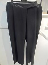 JACQUI E SIZE 16 BLACK WITH SATIN TRIM EVENING SPECIAL OCCASION PANTS 'PERFECT'