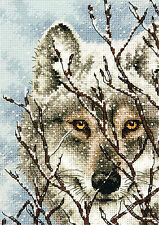 Cross Stitch Kit ~ Gold Collection Close Up Winter Wolf Portrait #70-65131