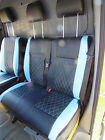 VW TRANSPORTER VAN 2006 SEAT COVERS BENTLEY DIAMOND BLUE - FULL LEATHERETTE