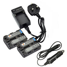 DSTE 2x NP-FM50 Battery and Charger For Sony DSC-F707 DSC-F717 DSC-S30 Camera