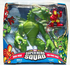 Marvel Super Hero Squad SHS IRON MAN & FIN FANG FOOM Mega 2-Pack Damaged Package