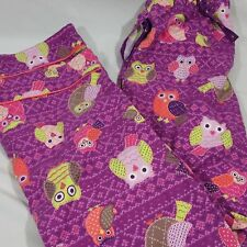 Nick & Nora Owl Pajama Bottom Pants Purple Women's Sleep Wear Small S Teen Kids