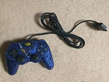 Mad Catz Dual Force 2 Blue Controller - Sony Playstation  PSX / PS2 NEW