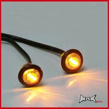 AMBER 12v Round Flush Mount LED Mini Marker Lights