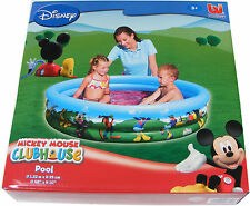 CHILDRENS KIDS DISNEY MICKEY MOUSE SMALL GARDEN PADDLING POOL 1.22m DIAMETER NEW