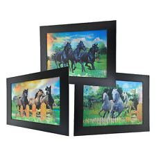3 Dimension 3D Change Lenticular Picture Frame Horse Pack Farm Ranch Western