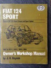 1967 1968 1969 1970 1971 1972 1973 1974 FIAT 124 REPAIR MANUAL, 1400, 1600, 1800