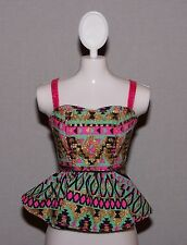 Barbie Doll Clothes Fashionista Life in the Dreamhouse Print Peplum Top Shirt