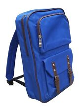 "AM Landen®Super Cute Canvas 14"" Laptop Backpack School Bag(Diamond Blue)"