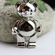 Novelty Cute 3D Bear Shape Metal Key Chain Ring Bag Car Phone Pendant Alloy