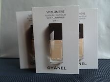 Chanel Vitalumiere Satin Fluid MakeUp Foundation SPF15 40 Beige 3x2.5ml Set