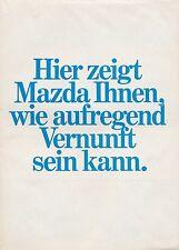 MAZDA prospectus 1980 brochure 323 626 929 rx-7 voiture voitures autoprospekt brochure