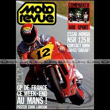 MOTO REVUE N°2904 NSR 125 HONDA CBR 600 YAMAHA FZR BMW R 100 GS PARIS-DAKAR 1989