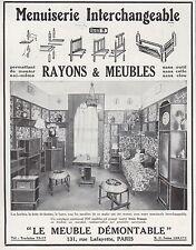 Publicité LE MEUBLE DEMONTABLE Menuiserie design Art Deco vintage  ad  1929 - 6h