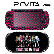Vinyl Decal Skin Sticker for Sony PS Vita Slim 2000 Monster High Ghoul Hot Pink