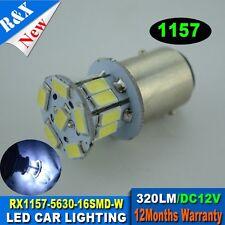 2 xT25/S25 1157 BAY15D White 16 5630 SMD LED Car Stop Tail Brake Light Bulb Lamp