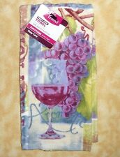 NEW better homes and garden Extra Large kitchen towel wine grapes pinot noir