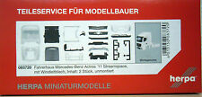 Herpa Teileservice 083720: 2x Fahrerhaus MB Actros 11 StreamSpace m. Windleitbl.