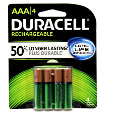 4x Duracell AAA Rechargeable Battery 800mAh NiMH 1.2V 5yr Guarantee + 50%better