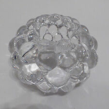 Orrefors Raspberry Tealight candle holder/votive. Glass/crystal 90s Anne Nilsson