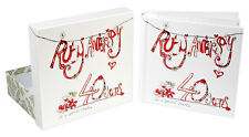 NEW Superior Ruby 40th Wedding Anniversary Photo Album Box Present Gift Boxed