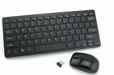 Ultra-Slim Multimedia 2.4g Wireless Mini Keyboard and Mouse for Pc Laptop Black