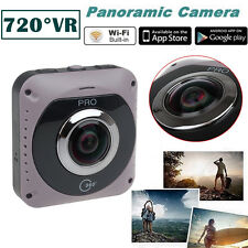 360 VR Video Camera Recorder WiFi Action Sports Dual Fish Eyes Lens Cam GV720B