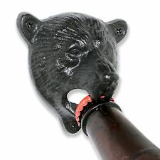 Grizzly Bear Wall Mounted Beer Bottle Cap Opener | Black Vintage Durable