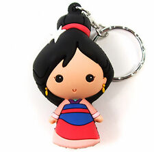 "Disney 3D Figural Keyring Princesses Series 7 MULAN 3"" KEYCHAIN Blind Bag NEW"