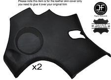 Black stitch 2X latérales arrière haut-parleur panneau revêtement en cuir pour corvette C6 05-13