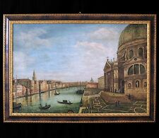 """ANTIQUE ITALIAN ROCCOCO OIL PAINTING """"VENICE.THE GRAND CANAL"""" ca 1700-1800"""