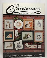 Cattitudes The Eighth Litter Cross Stitch Patterns Leaflet Cat JeanetteCrews 182