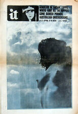 INTERNATIONAL TIMES MAGAZINE 9 APR 1970 IT 77 . PINK FLOYD SYD BARRETT . ZAPPA