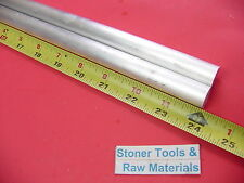 "2 pieces 5/8"" ALUMINUM 6061 ROUND ROD 24"" LONG T6511 .625 Solid Lathe Bar Stock"