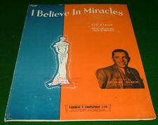 1934 Sheet Music: I Believe in Miracles, George Olsen on Cover.