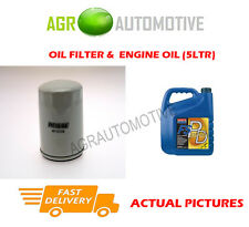 PETROL OIL FILTER + FS PD 5W40 OIL FOR LAND ROVER DISCOVERY 2.0 136BHP 1993-98