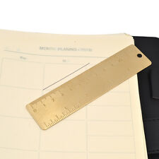 12cm Brass Ruler Bookmark Journal Note Book Diary Magnetic Portable Stationery