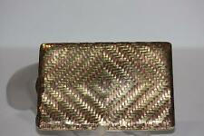 Vintage Cartier 14K Solid Rose & Yellow Gold Weave Cigarrete Case Circa 1920's
