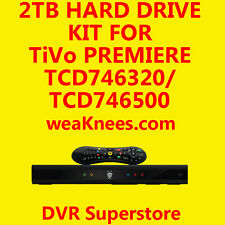 2TB TIVO HARD DRIVE UPGRADE/REPAIR KIT FOR TCD746320 SERIES4 PREMIERE - 6 MO WAR
