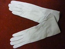 RAF WHITE LEATHER FLYING GLOVES SIZE: 6.5 GENUINE RAF ISSUE