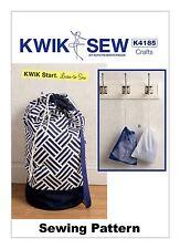 Kwik Sew K4185 Kwik Start Learn to Sew PATTERN Laundry & Drawstring Bags OSZ