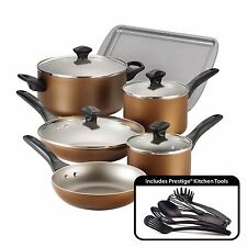 Cookware Set Pots And Pans Non-Stick Ceramic Coating 15 Piece Cooking Kitchen