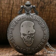 New Style Death Note Quartz Necklace Chain Pocket Watch Men's Women Gift P366