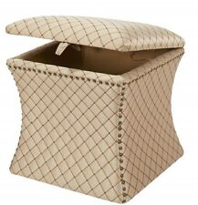 *NEW in Box Jennifer Taylor Legacy Gold Storage Ottoman 2330-686 20x20x19""