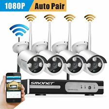 1080p IP Wireless Security CCTV Camera 4ch NVR System Outdoor good Night Vision