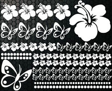 122 piezas XXX Pegatinas De Coches Flores Del Hibisco Mariposas TATUAJE HAWAIANO